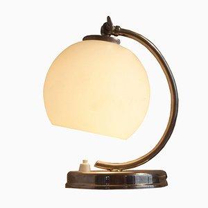 Lámpara de mesa Bauhaus húngara niquelada, años 30