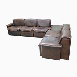 Sofá modular DS12 de cuero marrón de de Sede