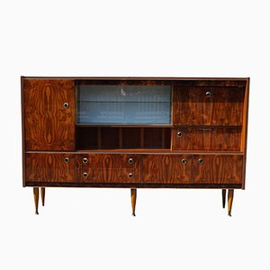 Large Mid-Century Cabinet with Display and Bar