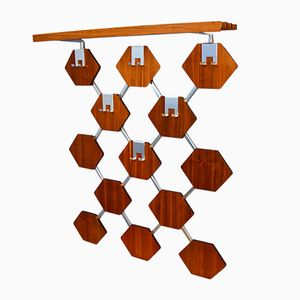 Coat Rack in Teak and Chrome, 1970s