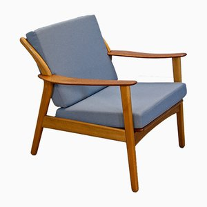 Danish Lounge Chair in Beech & Teak, 1960s