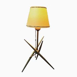 Belgische Lampe mit Fuß in Molekül-Optik, 1950er