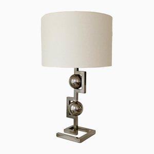 Lámpara de mesa italiana geométrica, años 70