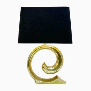 Lámpara de mesa de latón de Pierre Cardin, años 70