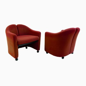 PS142 Armchairs by Eugenio Gerli for Tecno, 1960s, Set of 2