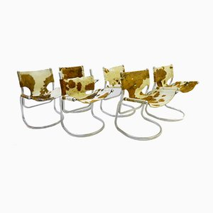 Vintage Cowhide Chairs, 1960s, Set of 6