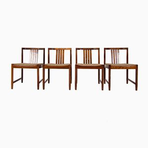 Mid-Century Rosewood Dining Chairs, 1960s, Set of 4