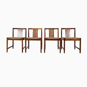 Sedie da pranzo Mid-Century in palissandro, anni '60, set di 4