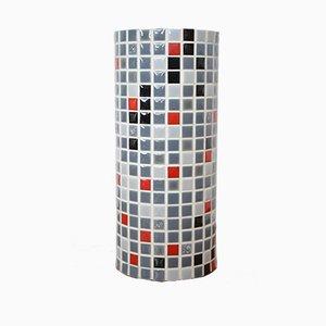 Vaso brutalista con mosaico, anni '60