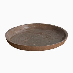 Dark Sand Deep Medium Side Plate from Kana London