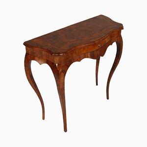 Consola veneciana barroca de cerezo con incrustaciones
