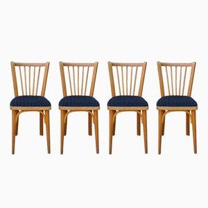 Chaises Vintage en Velours de Baumann, Set de 4