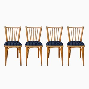Vintage Velvet Chairs from Baumann, Set of 4