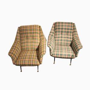 Vintage Armlehnstühle von Gio Ponti, 1950er, 2er Set