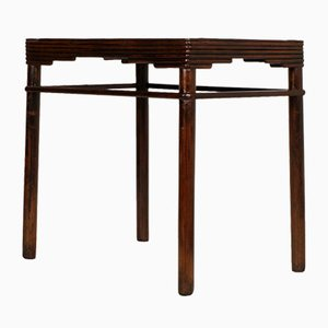 Italian Art Deco Walnut Table from Meroni & Fossati Lissone, 1930s