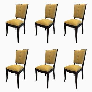 Chaises de Salon Art Déco, France, Set de 6