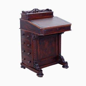 Kleiner antiker Davenport-Schreibtisch auf Rädern