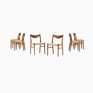 Dining Chairs by Ejner Larsen & Aksel Bender Madsen for Glyngore, 1960s, Set of 6