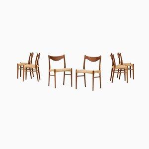 Esszimmerstühle von Ejner Larsen & Aksel Bender Madsen für Glyngore, 1960er, 6er Set