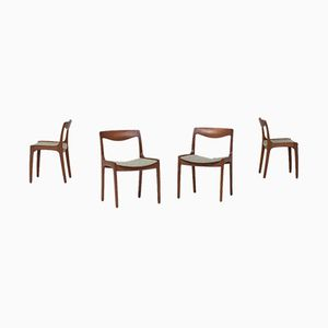 Dining Chairs by Wilhelm Volkert for Poul Jeppesen Møbelfabrik, 1960s, Set of 4