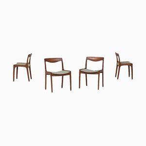 Sedie da pranzo di Wilhelm Volkert per Poul Jeppesen Mobelfabrik, anni '60, set di 4