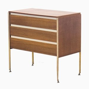 Wengé & Brass Chest of Drawers by Kho Liang Ie for Fristho, 1950s