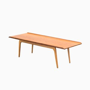 Teak and Oak Coffee Table by Aksel Bender Madsen for Bovenkamp, 1950s