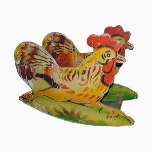 Vintage Industrial Wooden Rooster Rocker, 1970s
