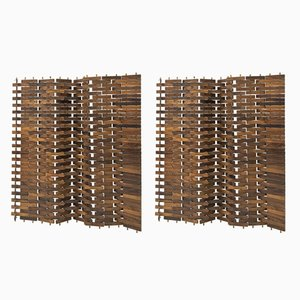 Mid-Century Rosewood Screens from Poggi, Set of 2
