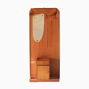 Espejo de recibidor Mid-Century de teca, años 60