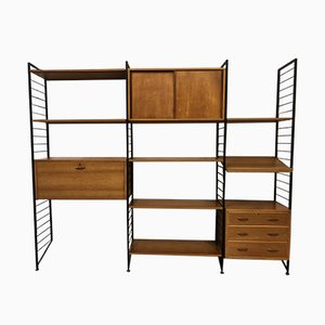 Teak & Metal Ladderax Shelving Unit by Robert Heal for Staples, 1960s