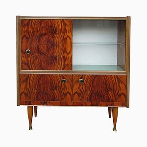 Mid-Century High Gloss Display Cabinet