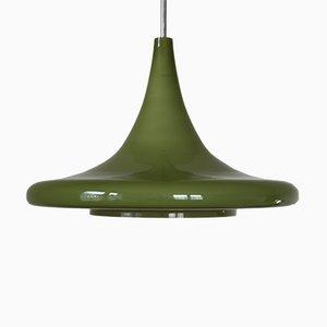 Lámpara colgante alemana vintage de Doria Leuchten, años 70