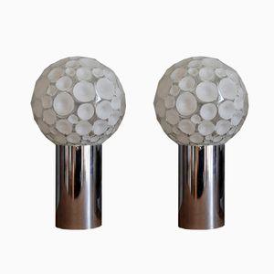 Apliques italianos con globos de vidrio, años 70