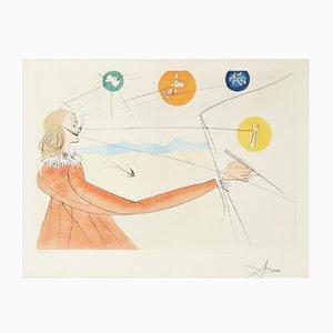 Aguafuerte Dalian Prophecy de Salvador Dalí, 1974