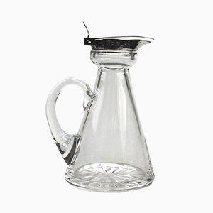 Antike Whisky Karaffe aus Silber & Glas von Hukin & Heath, 1917