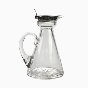 Antique Silver & Glass Whisky Decanter from Hukin & Heath, 1917