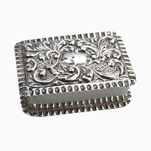 Antique Solid Silver & Repoussé Gilt Lined Pill Box from Adie & Lovekin, 1900s