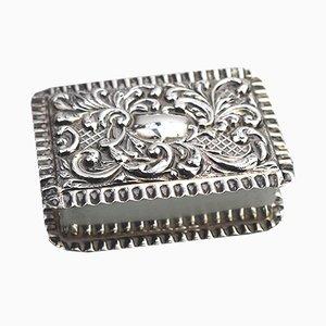 Scatolina antica in argento massiccio di Adie & Lovekin, inizio XX secolo