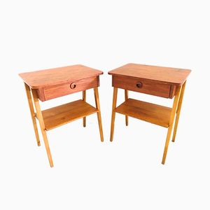 Tables de Chevet Vintage, Italie, 1950s, Set de 2