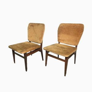 Vintage Italian Side Chairs, 1950s, Set of 2