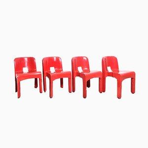 Chaises 4869 Vintage par Joe Colombo pour Kartell, 1963, Set de 4