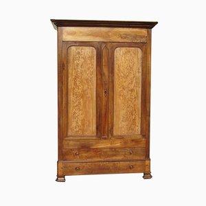 Louis Philippe Style Walnut & Elm Linen Cabinet, 1890s