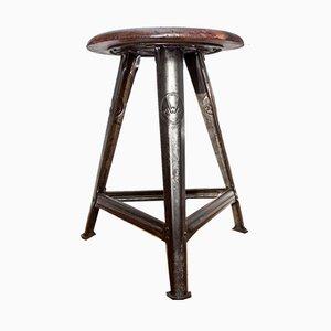 Industrieller Vintage Dreibeinhocker von Robert Wagner für Rowac