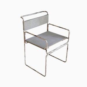 Vintage Industrial Iron Armchair, 1960s