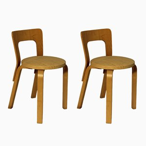 N65 Children's Chairs by Alvar Aalto for Fredericia, 1970s, Set of 2