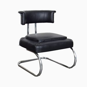 Small Tubular Bauhaus Style Side Chair, 1930s
