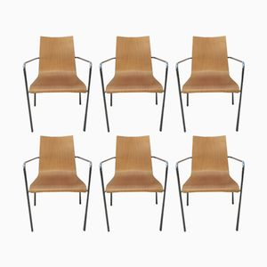 Vintage Armchairs, 1980s, Set of 6