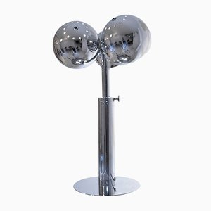 Adjustable Chrome-Plated Table Lamp by J. Bouvier for Boyer, 1980s