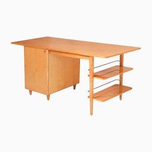 Doppelseitiger Mid-Century Schreibtisch aus Birke von Imexcotra, 1950er
